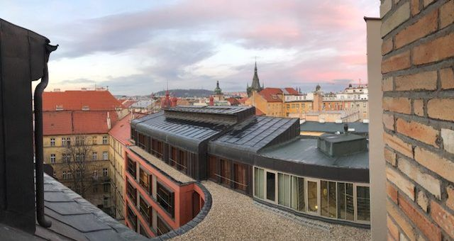 Hotel room view from Prague