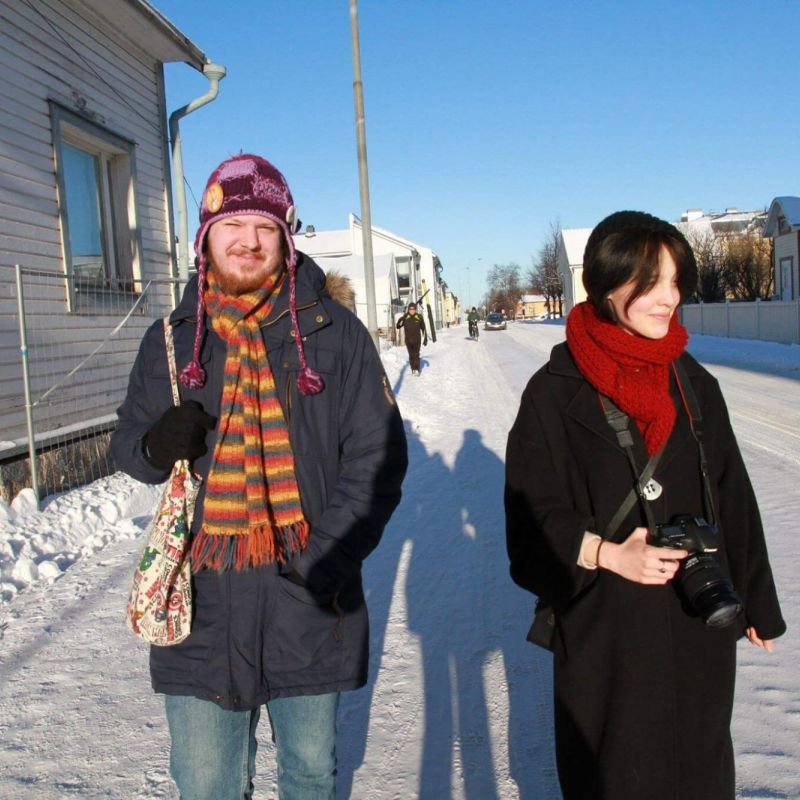 International students from Latvia visiting Raahe